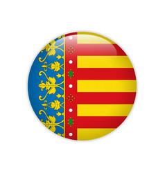 Flag valencian community button vector
