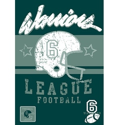 Football warriors league vector image