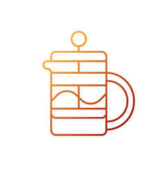french press gradient linear icon vector image