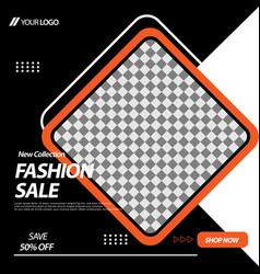 geometric square social media banner design vector image