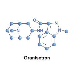 granisetron serotonin receptor antagonist vector image