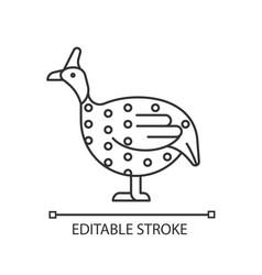 Guinea fowl linear icon vector