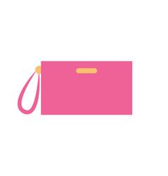 Handbag of pink color item vector