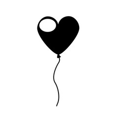 Heart shaped party balloons vector