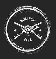 hunting club grunge emblem vector image