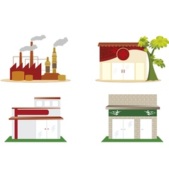 Industry and trade vector