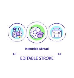 Internship abroad concept icon vector