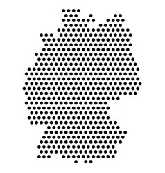 Isolated dotted political map germany vector