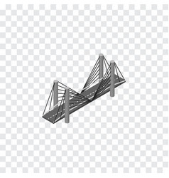 Isolated highway isometric bridge element vector
