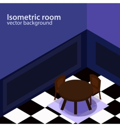 Isometric room background vector image