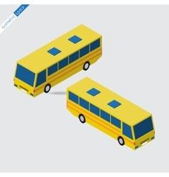 Isometric space - yellow bus vector