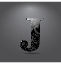 Letter J vector
