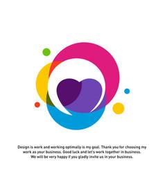 love heart creative logo concepts abstract vector image