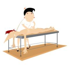 Massage therapist vector