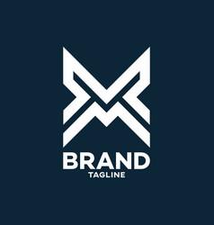 modern letters vm or mv logo vector image