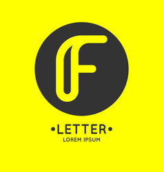 modern linear logo and sign the letter f vector image
