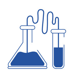 online doctor laboratory chemistry test tubes care vector image