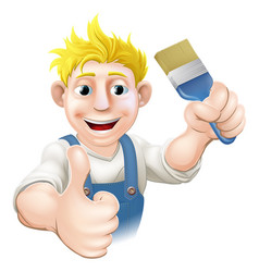 painter with paintbrush vector image