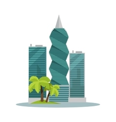 Panama-City Buildings Flat vector