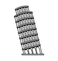 Piza tower italy icon vector
