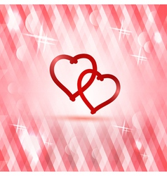 Polygonal pink background with heart vector image vector image