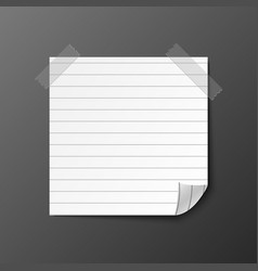 post note paper with shadow vector image