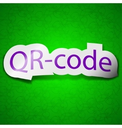 Qr code icon sign Symbol chic colored sticky label vector