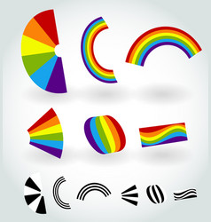 rainbow happiness nature rgb colors vector image