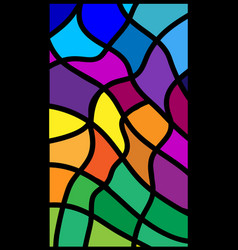 Rectangular abstract colored glass vector