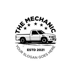 retro mechanic car logo designs for mechanic vector image