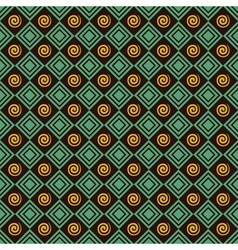 Retro spiral and square pattern background vector image