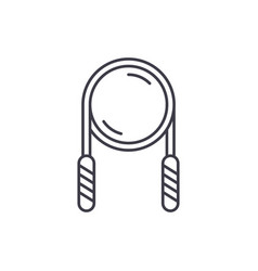rolling pin line icon concept rolling pin vector image