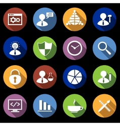 SEO Icons Set Flat vector image