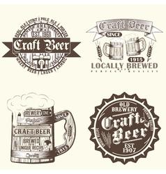 Set brewery emblems vector