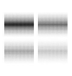 set gradient halftone circle dots backgrounds vector image