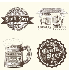 Set of brewery emblems vector