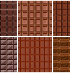 Set of seamless pattern with chocolate texture vector
