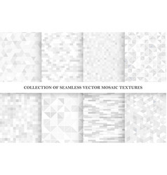 set tile geometric seamless patterns vector image