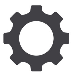 Setting gear tool cog isolated flat web mobile vector