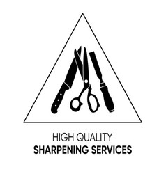 Simple black sharpening services icon sign vector