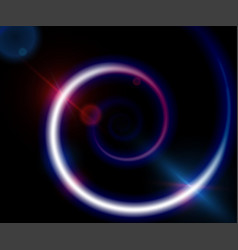 spiral background with light color energy vector image