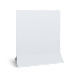 Square blank paper table card isolated on white vector