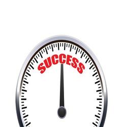 Successful speedometer vector