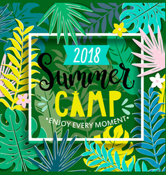 Summer camp 2018 in jungle vector