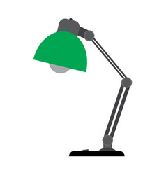 table lamp on a white background vector image