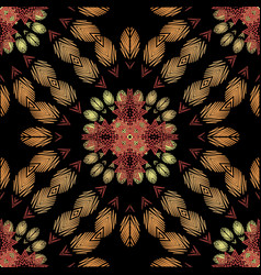 Tapestry floral abstract seamless pattern vector