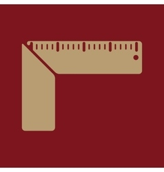 The setsquare icon building square symbol flat vector