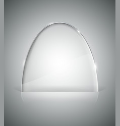 Transparent elliptic glass stand vector