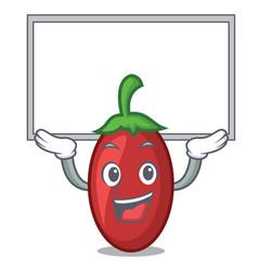 up board goji berries character cartoon vector image
