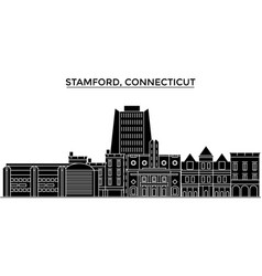Usa stamford connecticut architecture vector